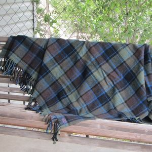 Vintage Pendleton Wool Plaid Throw Blanket